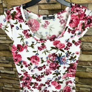 Pinc Fit & Flare Floral Print Dress